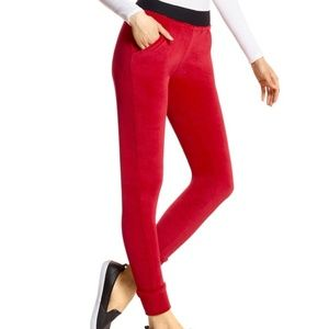 NWT Hue velour red track pant